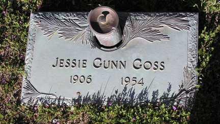 GUNN GOSS, JESSIE - Yavapai County, Arizona | JESSIE GUNN GOSS - Arizona Gravestone Photos