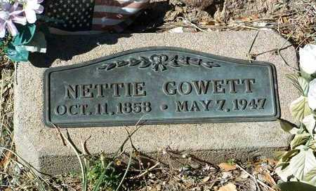 GOWETT, NETTIE - Yavapai County, Arizona | NETTIE GOWETT - Arizona Gravestone Photos