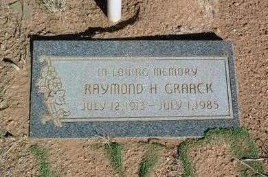 GRAACK, RAYMOND H. - Yavapai County, Arizona   RAYMOND H. GRAACK - Arizona Gravestone Photos