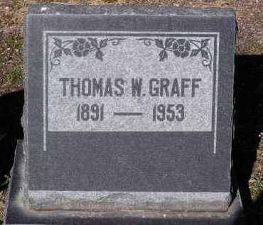 GRAFF, THOMAS W. - Yavapai County, Arizona   THOMAS W. GRAFF - Arizona Gravestone Photos