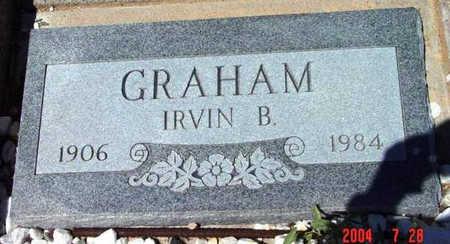 GRAHAM, IRVIN B. - Yavapai County, Arizona | IRVIN B. GRAHAM - Arizona Gravestone Photos