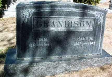 GRANDISON, JOHN - Yavapai County, Arizona | JOHN GRANDISON - Arizona Gravestone Photos