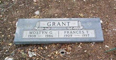 GRANT, MOSTYN G. - Yavapai County, Arizona | MOSTYN G. GRANT - Arizona Gravestone Photos