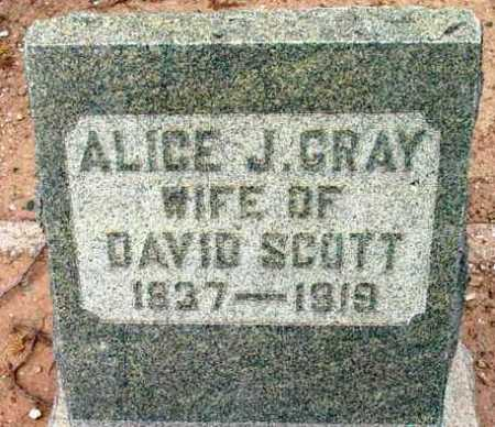 GRAY SCOTT, ALICE JANE - Yavapai County, Arizona | ALICE JANE GRAY SCOTT - Arizona Gravestone Photos