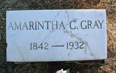 GRAVES GRAY, AMARINTHA - Yavapai County, Arizona   AMARINTHA GRAVES GRAY - Arizona Gravestone Photos