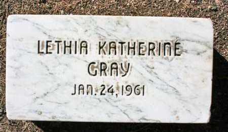 GRAY, LETHIA KATHERINE - Yavapai County, Arizona   LETHIA KATHERINE GRAY - Arizona Gravestone Photos