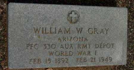 GRAY, WILLIAM W. - Yavapai County, Arizona   WILLIAM W. GRAY - Arizona Gravestone Photos
