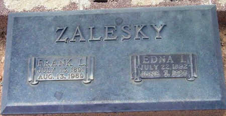 GRAY ZALESKY, EDNA IDA - Yavapai County, Arizona   EDNA IDA GRAY ZALESKY - Arizona Gravestone Photos