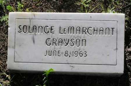 GRAYSON, SOLANGE L. - Yavapai County, Arizona | SOLANGE L. GRAYSON - Arizona Gravestone Photos