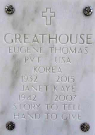 GREATHOUSE, EUGENE T. - Yavapai County, Arizona | EUGENE T. GREATHOUSE - Arizona Gravestone Photos