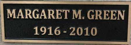 GREEN, MARGARET M. - Yavapai County, Arizona | MARGARET M. GREEN - Arizona Gravestone Photos