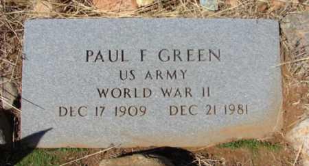 GREEN, PAUL FRANK - Yavapai County, Arizona | PAUL FRANK GREEN - Arizona Gravestone Photos