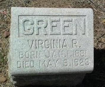 ROWELL GREEN, VIRGINIA - Yavapai County, Arizona | VIRGINIA ROWELL GREEN - Arizona Gravestone Photos