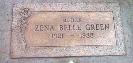GREEN, ZENA BELLE - Yavapai County, Arizona | ZENA BELLE GREEN - Arizona Gravestone Photos