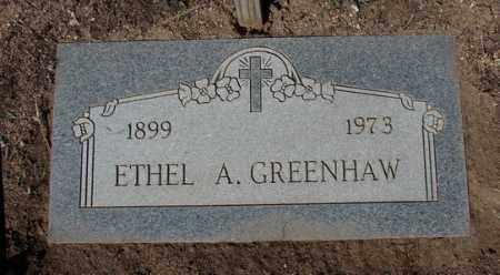 GREENHAW, ETHEL A. - Yavapai County, Arizona | ETHEL A. GREENHAW - Arizona Gravestone Photos
