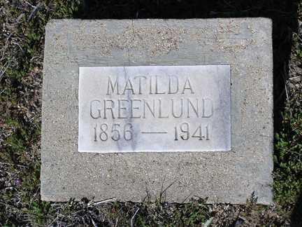 GREENLUND, MATILDA - Yavapai County, Arizona   MATILDA GREENLUND - Arizona Gravestone Photos
