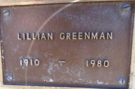 GREENMAN, LILLIAN - Yavapai County, Arizona | LILLIAN GREENMAN - Arizona Gravestone Photos