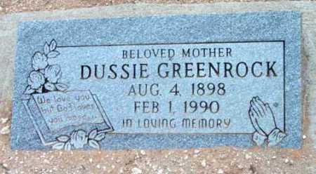 COX GREENROCK, DUSSIE J. - Yavapai County, Arizona   DUSSIE J. COX GREENROCK - Arizona Gravestone Photos