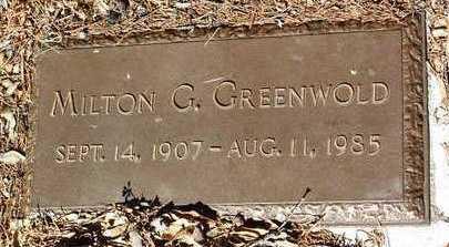 GREENWOLD, MILTON GUSTAVE - Yavapai County, Arizona | MILTON GUSTAVE GREENWOLD - Arizona Gravestone Photos