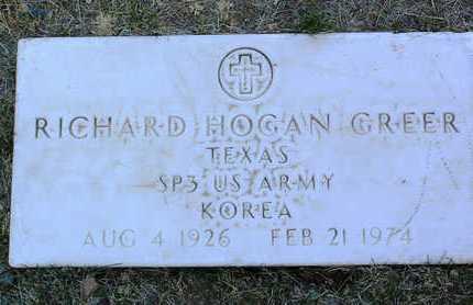 GREER, RICHARD HOGAN - Yavapai County, Arizona | RICHARD HOGAN GREER - Arizona Gravestone Photos