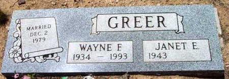 GREER, WAYNE FLOYD - Yavapai County, Arizona | WAYNE FLOYD GREER - Arizona Gravestone Photos