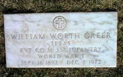 GREER, WILLIAM WORTH - Yavapai County, Arizona   WILLIAM WORTH GREER - Arizona Gravestone Photos