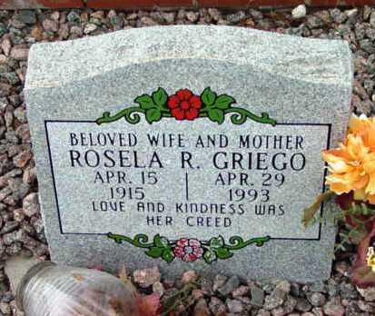 GRIEGO, ROSELA R. - Yavapai County, Arizona   ROSELA R. GRIEGO - Arizona Gravestone Photos