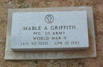 GRIFFITH, MABEL A. - Yavapai County, Arizona | MABEL A. GRIFFITH - Arizona Gravestone Photos