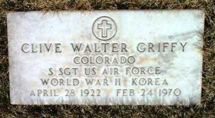 GRIFFY, CLIVE WALTER - Yavapai County, Arizona | CLIVE WALTER GRIFFY - Arizona Gravestone Photos