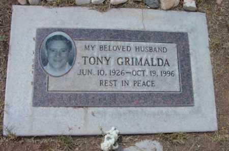 GRIMALDA, TONY - Yavapai County, Arizona   TONY GRIMALDA - Arizona Gravestone Photos