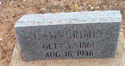 GRIMES, CHARLES MONROE - Yavapai County, Arizona | CHARLES MONROE GRIMES - Arizona Gravestone Photos