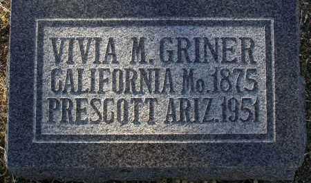 GRINER, VIVIA MAUDE - Yavapai County, Arizona   VIVIA MAUDE GRINER - Arizona Gravestone Photos