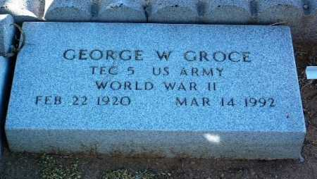 GROCE, GEORGE W. - Yavapai County, Arizona   GEORGE W. GROCE - Arizona Gravestone Photos