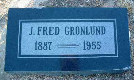 GRONLUND, JOHN FRED - Yavapai County, Arizona | JOHN FRED GRONLUND - Arizona Gravestone Photos