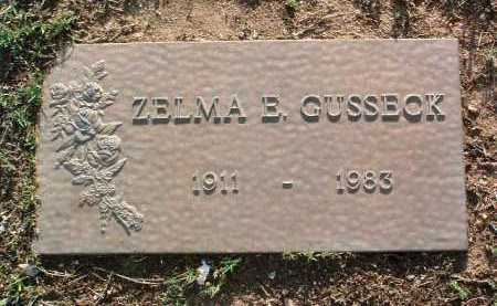 GUSSECK, ZELMA E. - Yavapai County, Arizona | ZELMA E. GUSSECK - Arizona Gravestone Photos