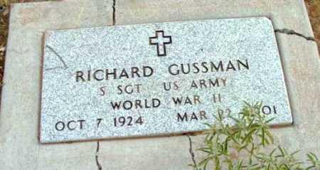 GUSSMAN, RICHARD ANTHONY - Yavapai County, Arizona | RICHARD ANTHONY GUSSMAN - Arizona Gravestone Photos