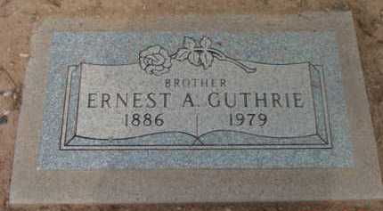 GUTHRIE, ERNEST A. - Yavapai County, Arizona | ERNEST A. GUTHRIE - Arizona Gravestone Photos