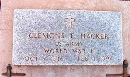HACKER, CLEMONS E. - Yavapai County, Arizona | CLEMONS E. HACKER - Arizona Gravestone Photos