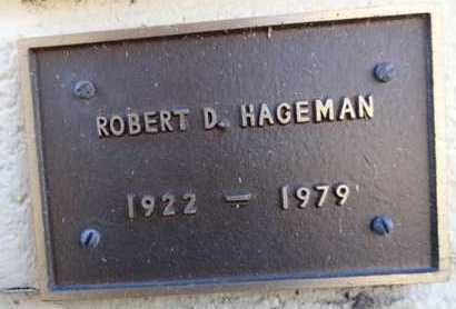HAGEMAN, ROBERT D. - Yavapai County, Arizona | ROBERT D. HAGEMAN - Arizona Gravestone Photos