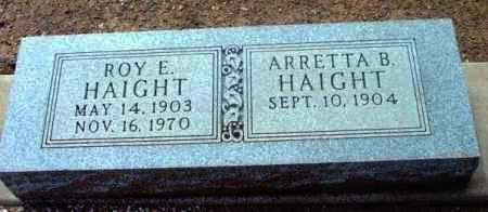 HAIGHT, ROY E. - Yavapai County, Arizona | ROY E. HAIGHT - Arizona Gravestone Photos