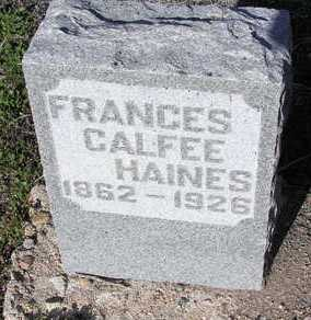 CALFEE HAINES, FRANCES C. - Yavapai County, Arizona | FRANCES C. CALFEE HAINES - Arizona Gravestone Photos