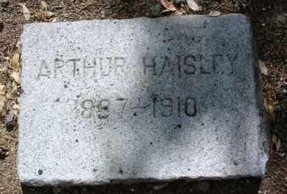 HAISLEY, ARTHUR - Yavapai County, Arizona | ARTHUR HAISLEY - Arizona Gravestone Photos