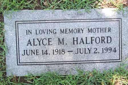 HALFORD, ALYCE MARY - Yavapai County, Arizona   ALYCE MARY HALFORD - Arizona Gravestone Photos
