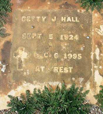 HALL, BETTY J. - Yavapai County, Arizona | BETTY J. HALL - Arizona Gravestone Photos