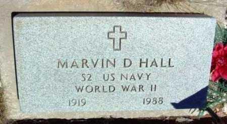 HALL, MARVIN D. - Yavapai County, Arizona | MARVIN D. HALL - Arizona Gravestone Photos