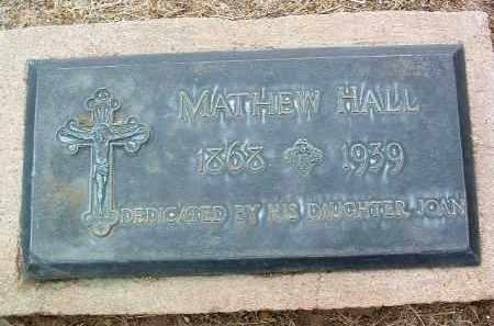 HALL, MATHEW - Yavapai County, Arizona   MATHEW HALL - Arizona Gravestone Photos