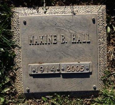 HALL, MAXINE B. - Yavapai County, Arizona | MAXINE B. HALL - Arizona Gravestone Photos