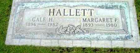 HALLETT, MARGARET P. - Yavapai County, Arizona | MARGARET P. HALLETT - Arizona Gravestone Photos