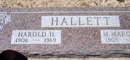 HALLETT, HAROLD HUMPHREY - Yavapai County, Arizona   HAROLD HUMPHREY HALLETT - Arizona Gravestone Photos