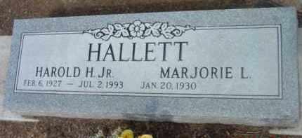 HALLETT HALLETT, MARJORIE LEE - Yavapai County, Arizona | MARJORIE LEE HALLETT HALLETT - Arizona Gravestone Photos